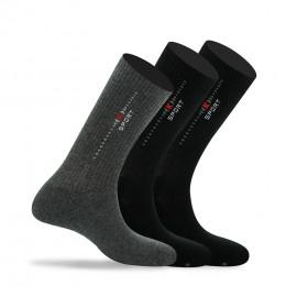 Lot de 3 paires de mi-chaussettes confort et anti-choc