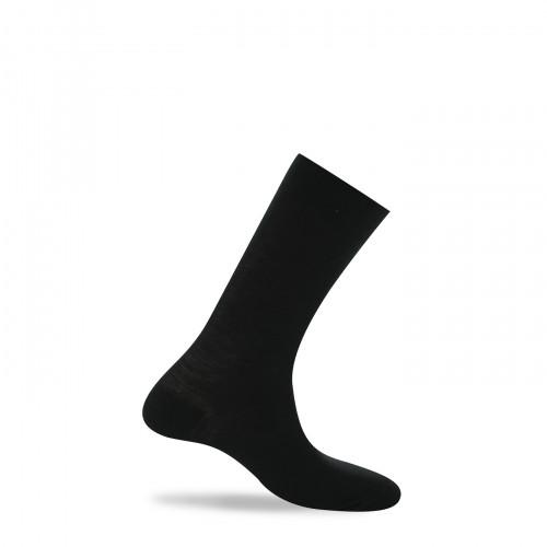 Mi-chaussettes extérieur laine interieur coton