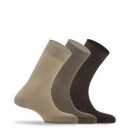 Lot de 3 paires de chaussettes unies jersey