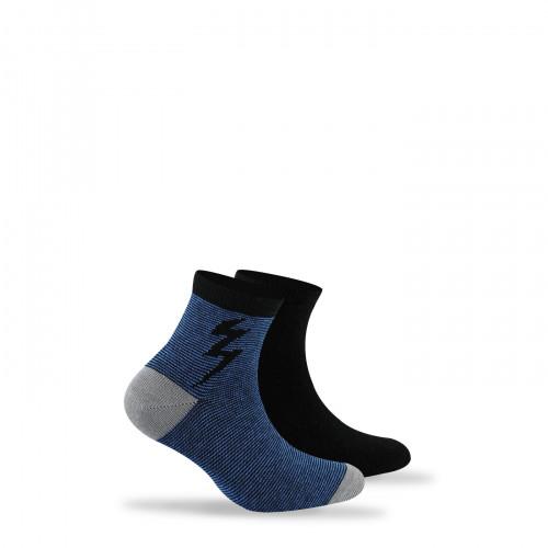 Lot de 2 paires de chaussettes anti-odeur fantaisies + unies