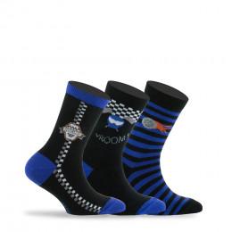 Pack de 3 paires de chaussettes thème Formule 1 en coton