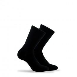 Lot de 2 paires de chaussettes souples non comprimantes en coton