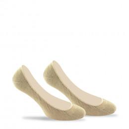 Pack de 2 paires de protèges pieds unis invisibles anti-odeur