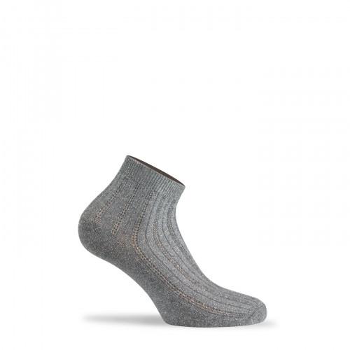 Socquettes ultra-coutes à côtes en coton