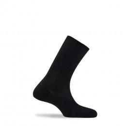 Mi-chaussettes unies non comprimantes