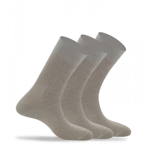 Lot de 3 paires de chaussettes unies pur coton