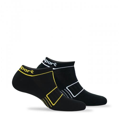 Lot de 2 paires de chaussettes invisibles sport fantaisies